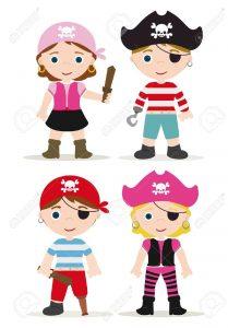 16926821-ensemble-mignon-de-pirates-pour-enfants-Banque-d'images